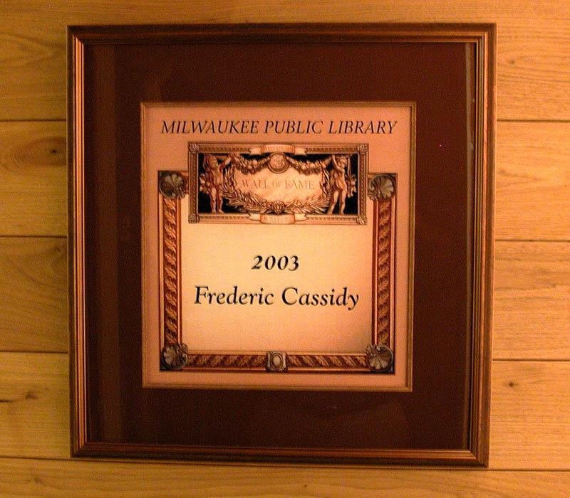 Cassidy plaque