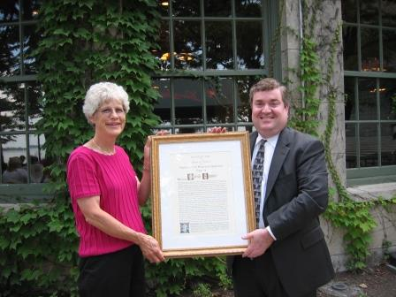 David and Joan w plaque