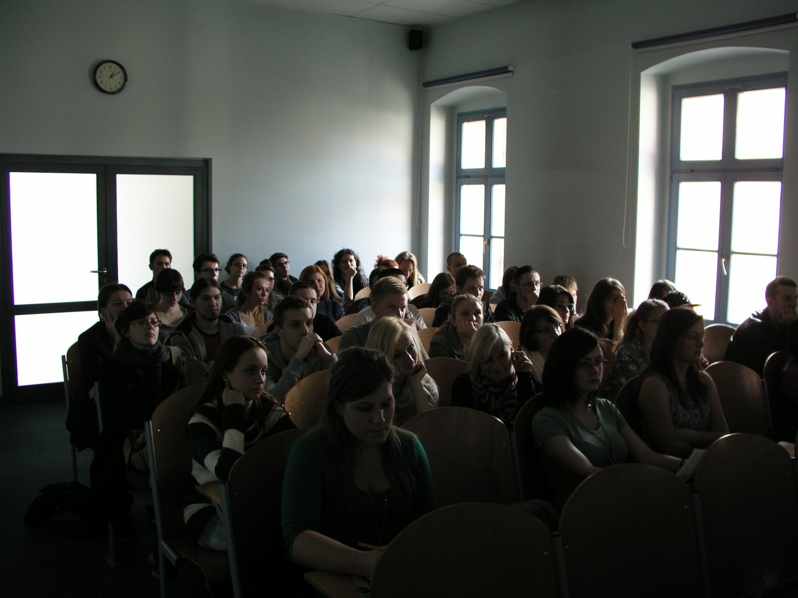 LvS in Opole Poland, view of students