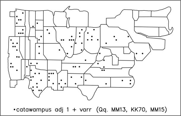 catawampus adj 1 + varr (Qq. MM13, KK70, MM15)